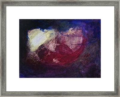 Framed Print featuring the painting Ultrasound by Tracey Myers