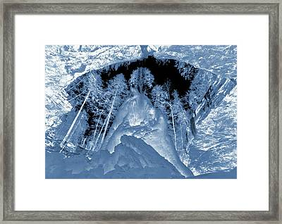Ultraviolet Cave In Winter Framed Print