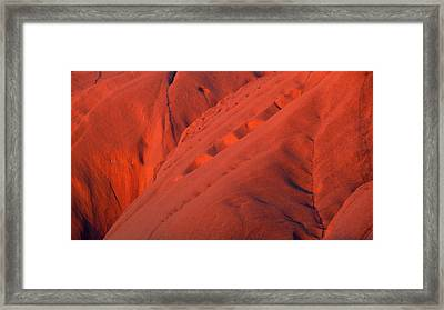 Framed Print featuring the photograph Uluru 1 by Evelyn Tambour