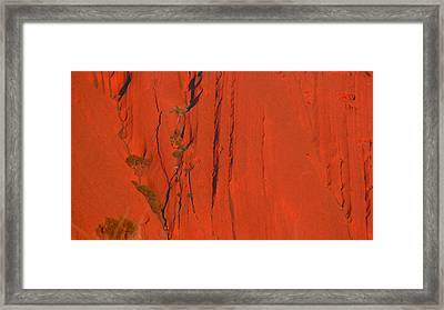 Framed Print featuring the photograph Uluru 3 by Evelyn Tambour