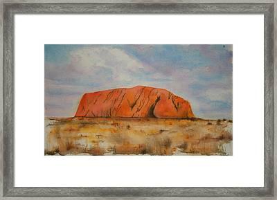 Uluru Framed Print by Lyndsey Hatchwell
