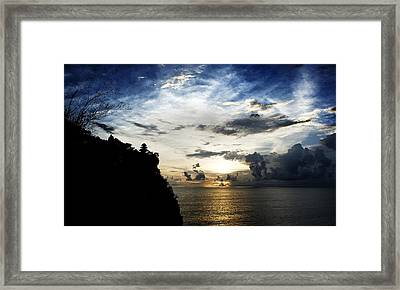 Uluwatu Temple Framed Print by Yew Kwang