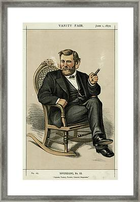 Ulysses Grant American Civil War Framed Print by Mary Evans Picture Library