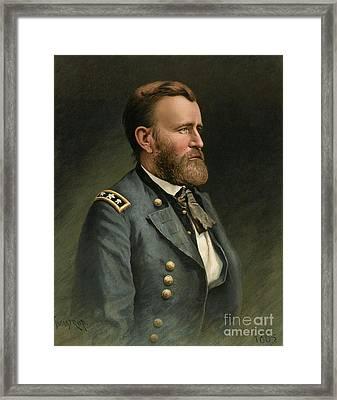 Ulysses S Grant 18th Us President Framed Print