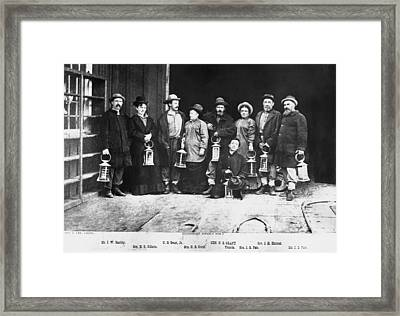 Ulysses S. Grant Visits Mine Framed Print