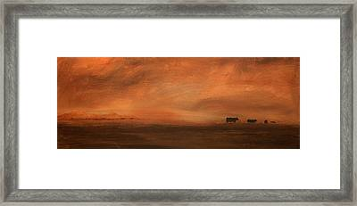 Umber Series #3 Framed Print by William Renzulli