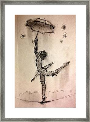 Umbrella Framed Print by H James Hoff