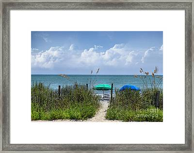 Framed Print featuring the photograph Umbrella Heaven by Kathy Baccari