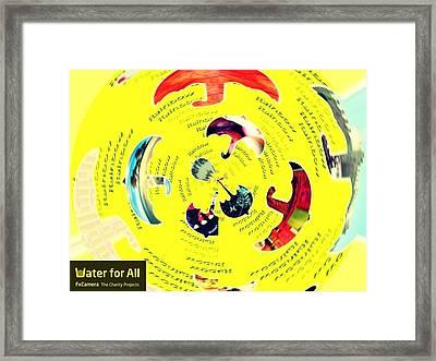Umbrella In Waterstorm Framed Print by Happy  Rainbowbee