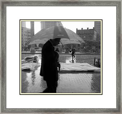 Umbrella Man Framed Print