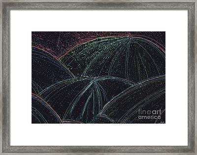 Umbrella Night By Jrr Framed Print by First Star Art