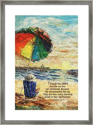 Umbrella Sunrise Lamentations 2 Framed Print