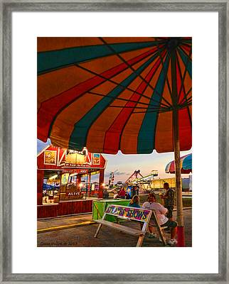Umbrella View Framed Print by Grace Dillon