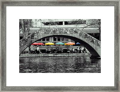 Umbrellas Of Many Colors Framed Print by John Kain