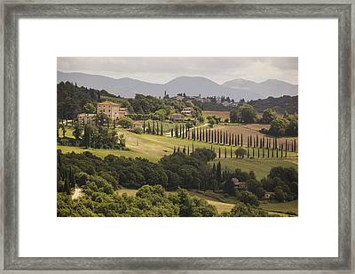 Framed Print featuring the photograph Umbria by Uri Baruch