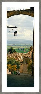 Umbrian Countryside Viewed Through An Framed Print by Panoramic Images