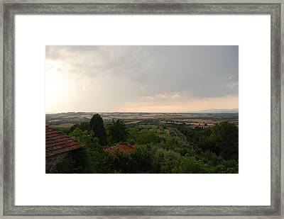 Umbrian View 2 Framed Print by Dorothy Berry-Lound