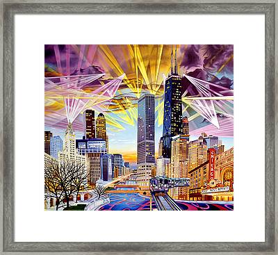 Umphrey's Mcgee-as The Lights Wrapped Around Chicago Framed Print by Joshua Morton