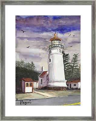 Umpqua Lighthouse Framed Print