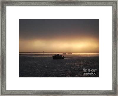 Umpqua River Sunrise Framed Print by Erica Hanel