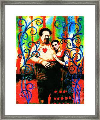 Un Amor A La Mexicana By Laura Gomez Framed Print by Laura  Gomez