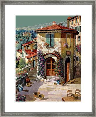 Un Cielo Verdolino Framed Print by Guido Borelli