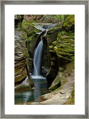 Un-named Falls Framed Print