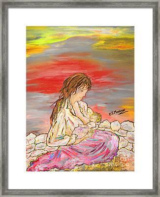 Un Pensiero Costante Framed Print by Loredana Messina