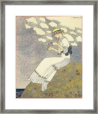Un Peu... Framed Print by Georges Barbier
