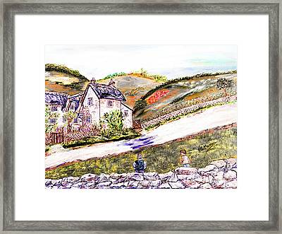 Framed Print featuring the painting An Afternoon In June by Loredana Messina