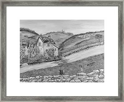 Framed Print featuring the painting Un Pomeriggio D'estate by Loredana Messina