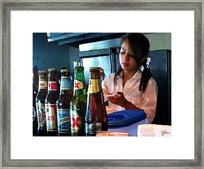 Un Sabor De Peru Framed Print by Shawn Lyte