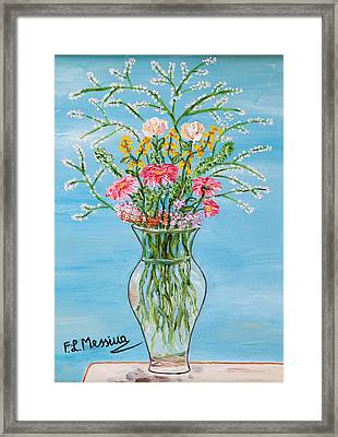 Framed Print featuring the painting Un Segno by Loredana Messina