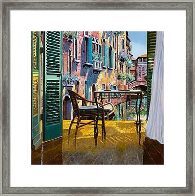 Un Soggiorno A Venezia Framed Print by Guido Borelli