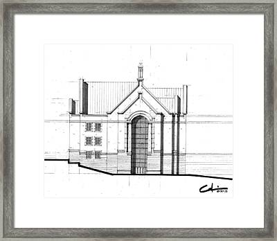 Framed Print featuring the drawing Una Elev Study by Calvin Durham