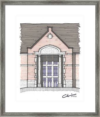 Framed Print featuring the drawing Una Entry Study by Calvin Durham