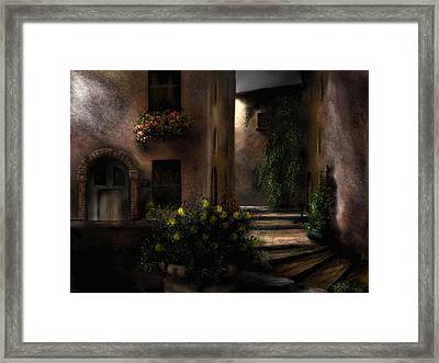Una Notte Tranquilla - A Quiet Night Framed Print