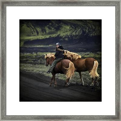 Unable To Stay. Unwilling To Leave. Framed Print