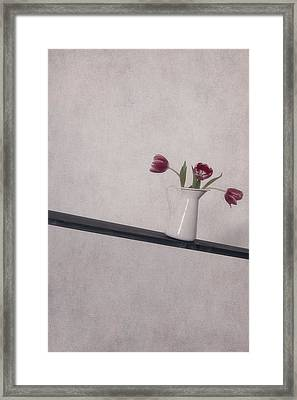 Unbalanced Flowers Framed Print