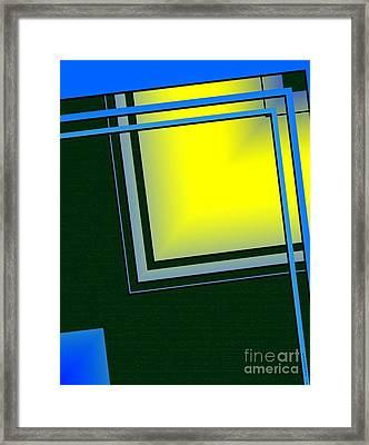 Unbalanced Geometric Art Framed Print by Mario Perez