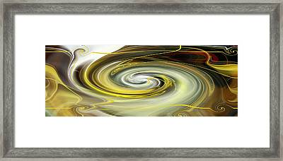 Framed Print featuring the digital art Unbarred Space Abstract by rd Erickson