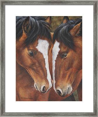 Framed Print featuring the painting Unbridled Affection by Kim Lockman