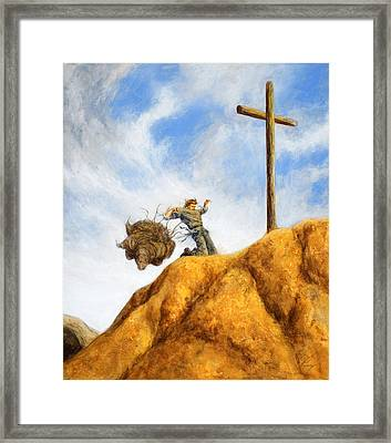 Unburdened Framed Print