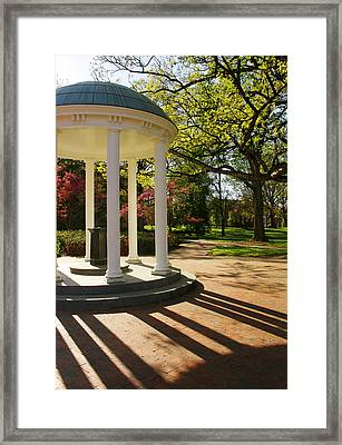 Unc-ch Old Well And Mccorkle Place Framed Print by Orange Cat Art