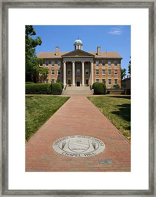 Unc-ch South Building Framed Print
