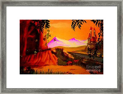 Unce Upon A Time Framed Print