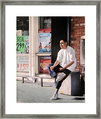 Uncertainty Framed Print by Art Carrillo
