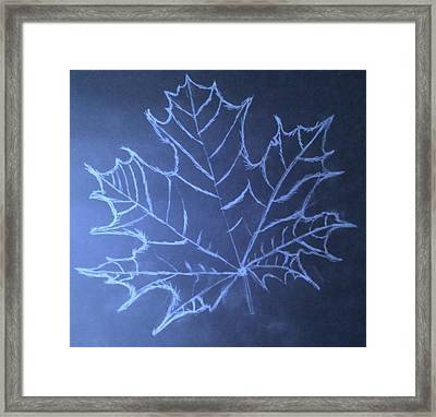 Uncertaintys Leaf Framed Print