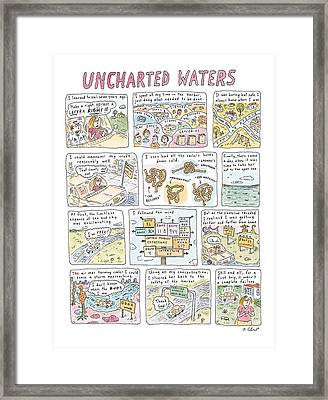 'uncharted Waters' Framed Print by Roz Chas