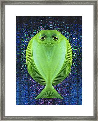 Uncle Fish Drops By For Dinner Framed Print by Wendy J St Christopher